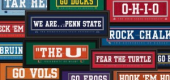 College Team Slogan Signs