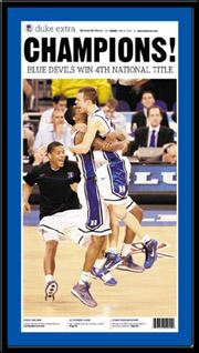 Duke 2010 National Champions Poster
