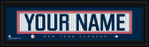 Yankees Personalized Jersey Print